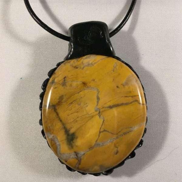 Gele jaspis ketting